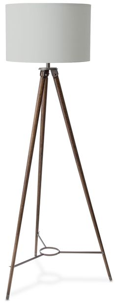 Standing Tall. This simple yet architecturally brilliant Ranger floor lamp blends a cool 60s vibe with an elegant contemporary style. An earthy wood finish with sleek black metal hardware attractively contrasts with an off-white cotton shade, while a double-pull chain adds a charming vintage feel.