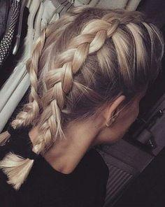 Blond + Double Dutch Braid