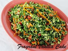 Fragrant Vanilla Cake: Raw Emerald Rice Salad