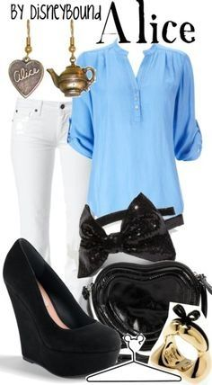 Alice inspired casual outfit