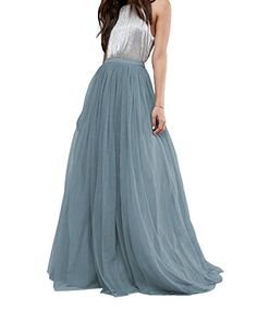 c68683fb438 CoutureBridal Women s Bridal Prom Tulle Long Skirt Party Floor Length at Amazon  Women s Clothing store
