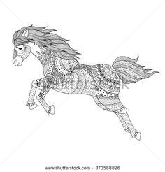 mandala pferd, welches steigt | gratis ausmalbilder pferde