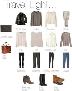 travel outfits//simple mix and match