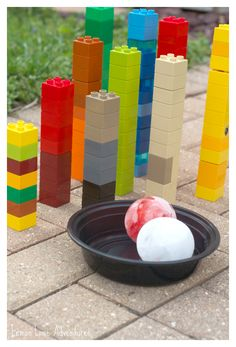Simple Summer Fun |Lego Ice Bowling ... OMG My boys LOVE this activity!