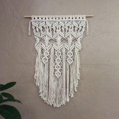 First designs are always special, and this was my very first!  I created this beautiful Macrame Wall Hanging to be hung outside as Garden Art or