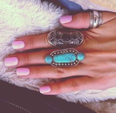 We love Nail colour to complement your rings!