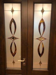 Wooden Glass Door, Etched Glass Door, Wooden Main Door Design, Double Door Design, Stained Glass Door, Glass Doors, Sliding Window Design, Window Glass Design, Frosted Glass Design