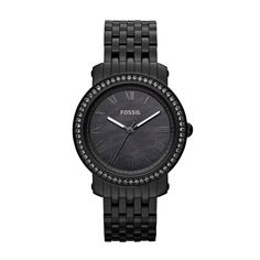 FOSSIL® Watch Collections Emma Watches:Women Emma Stainless Steel Watch – Black ES3187