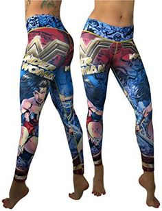Wonder Woman Superhero Leggings Yoga Pants Compression Ti...