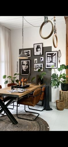 My home !You can find Store interior design and more on our website.My home ! Room Inspiration, Interior Inspiration, Interior Exterior, Interior Design, Furniture Board, Living Comedor, Home And Deco, Wooden Tables, Office Interiors
