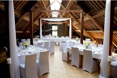 Barn loft used as a wedding venue. Cute!