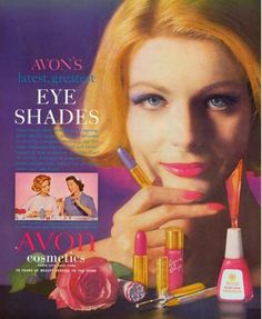 We are obsessed with this vintage Avon ad from the 1960s and the bold eyeshadow…