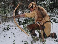 """Prehistoric """"styled"""" clothing (and weapons - Holmegaard bow/arrow & axe)"""