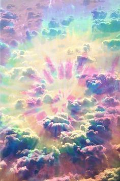 Tie-dye clouds!