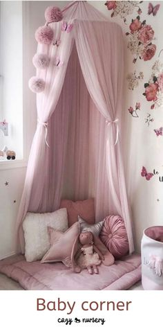 Baby Bed Canopy, Princess Canopy Bed, Princess Bedrooms, Princess Beds, Toddler Canopy Bed, Tulle Canopy, Canopy Beds, Bed Tent, Girls Room Design