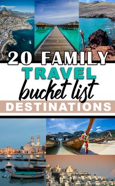 There is something for everyone on this list of 20 family travel destinations. Which of these incredible places will you be knocking off your list first? Bucket List Destinations, Travel Destinations, Travel With Kids, Family Travel, Best Resorts For Kids, Lake Retba, Kid Friendly Resorts, Caribbean Resort, Travel Inspiration