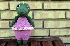 Balletkrokodillen Kirsten // Kirsten the crocodile  Hæklet krokodille // Crocheted crocodile