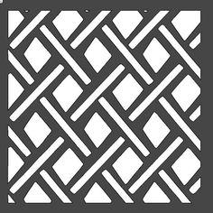 Diamond Lattice Stencil (Style 3) - 12x12