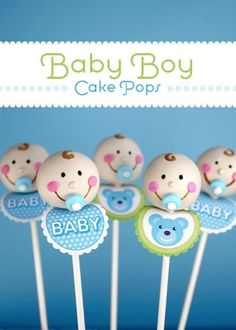 Absolutely darling > Baby Boy Cake Pops by @Bakerella for @PickyPalate by tamra