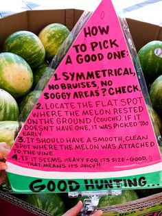 Fruit & Food Tips- Picking a good Watermelon!