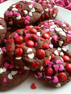 Devil's Food Chocolate Valentine Cookies. I'm not kidding when I say this is the easiest recipe I have ever read. Chocolate? check. Hearts? check. Devour? CHECKKKKKK.