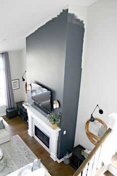 Most current Free tall Fireplace Makeover Strategies Now there are lots of interesting open fireplace renovate strategies if you are searching for the top people which will Fireplace Accent Walls, Living Room Decor Fireplace, Accent Walls In Living Room, Black Fireplace, Accent Wall Bedroom, Paint Colors For Living Room, Fireplace Wall, Fireplace Surrounds, Fireplace Design