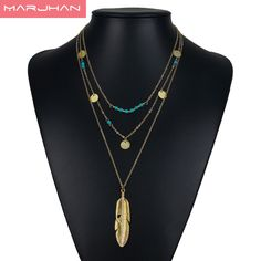 Bohemian Choker Necklace Women Natural Stone Tassel Long Necklaces & Pendants Fashion Necklaces Women Gold Plated Silver Jewelry Price: INR 299.9295 | India