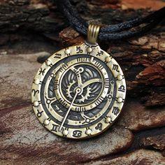 Bronze Astrolabe Inclinometer Astronomy Zodiac by MAGICrebEL, $36.99