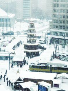Verschneiter #Alexanderplatz in #Berlin