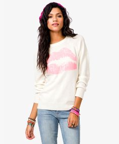 Lip Stain Sweater | FOREVER21 - 2021841193