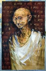 Ghandi in Judith Mason's retrospective exhibition South African Artists, Africa Art, Handprint Art, Street Art, Abstract Art, Colours, Fine Art, Art Prints, Portraits