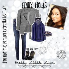 """""""Emily Fields-PLL"""" by osgoodgg ❤ liked on Polyvore"""