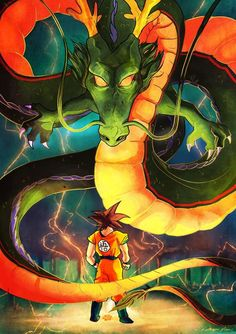 Shimron & Goku Dragon Ball Z Dragon Ball Z, Dragon Z, Akira, Manga Dragon, Z Wallpaper, Dbz Characters, Anime Merchandise, Fanart, Anime Art