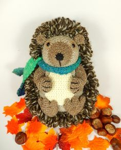 Hedley the Hedgehog Amigurumi Crochet Pattern by Moji-Moji Design available to download at LoveCrochet