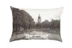 Saana ja Olli - Aurajoki interior pillow | Aurajoki-sisustustyyny