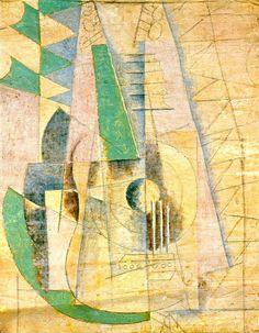 """Pablo Picasso - """"Guitare verte qui etend"""". 1912 г"""