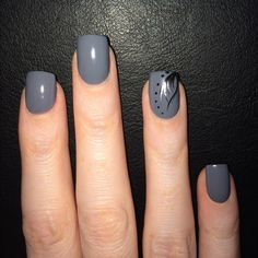 New nails #graynails #gray #opi #loveit