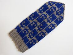 New Police Box Mittens pattern from SpillyJane Knits