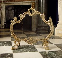 rococo style | Rococo style Mesh Antique Fire Guard.