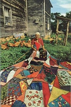 A lost Appalachian art: quilting. I still have several of the quilts that I helped my grandmother make as a young girl.
