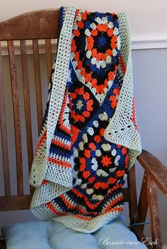 Cute idea for a baby blanket for a future Illini fan!