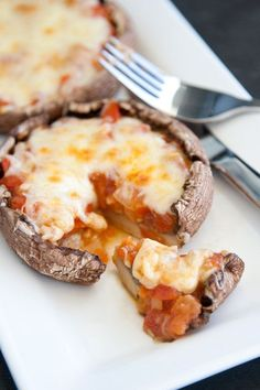 Portobello Mushroom Pizzas!  #lowcarb #tailgating #healthy