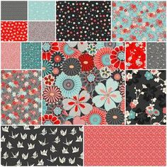 Sakura Fat Quarter Bundle - this also works with the red back