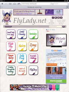 The FlyLady Launchpad....quick reference to the handy guides for all things to F.L.Y. (First Love Ourselves)