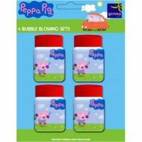 Peppa Pig party bubbles. website not available, however buy/make normal bubbles and wrap pappa printed image around them