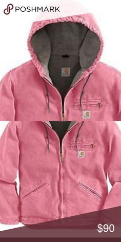 Pink carhartt jacket Rly nice light pink carhartt. There is nothing wrong with it I just don't wear this type of jacket anymore. Excellent condition Carhartt Jackets & Coats