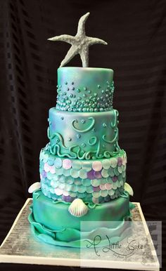 Underwater Theme Cake . I absolutely love this!! Now I just wish I had an occasion for it!!
