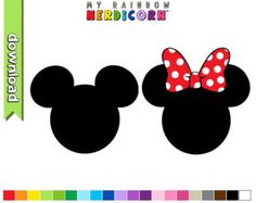 Mickey and Minnie Mouse numbers clipart by greenmelonstudios