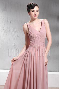Pretty A-Line Floor-Length Zipper Up Spaghetti Neckline Luba's Prom/Event Dresses