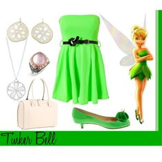 Tinker Bell, created by annmarie0697 I created this set for my Disney Princesses collection.